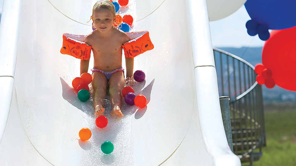 Amazing Waterslides in Royal Park Kos